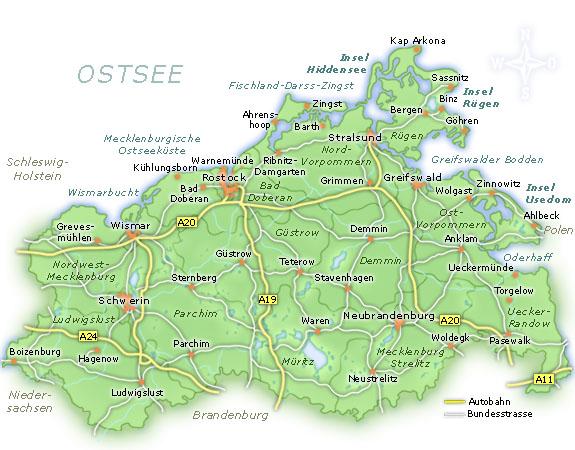 Mecklenburg ostseeküste karte vorpommern Hochwassergefahren